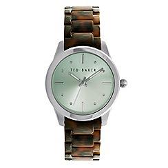 Ted Baker - Ladies mint green tortoiseshell bracelet watch te10025278