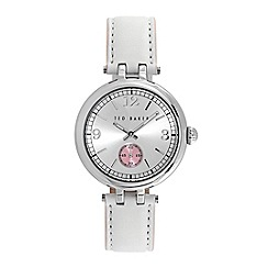 Ted Baker - Ladies white dial white leather strap watch
