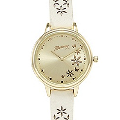 Mantaray - Off white petal analogue watch