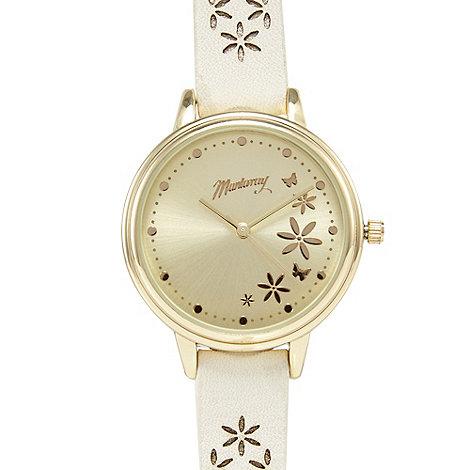 Mantaray - Off white petal analogue watch