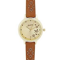 Mantaray - Brown petal analogue watch