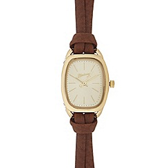 Mantaray - Ladies brown double strand watch