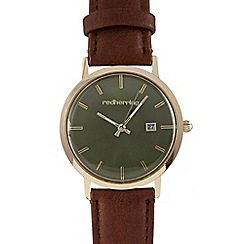 Red Herring - Brown concave watch