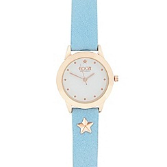 Floozie by Frost French - Ladies pale blue star watch