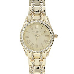Infinite - Ladies gold diamante watch