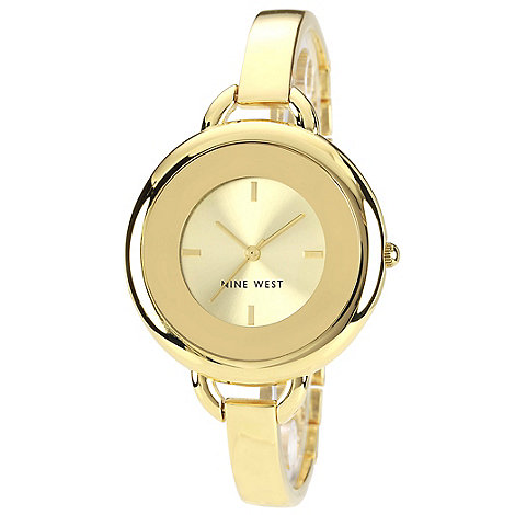 Nine West - Ladies gold case bracelet watch