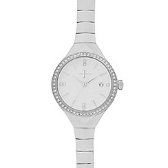 J by Jasper Conran - Ladies silver slim bracelet watch