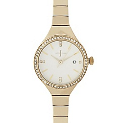 J by Jasper Conran - Ladies gold diamant  embellished watch