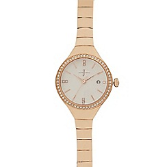 J by Jasper Conran - Ladies rose gold bracelet watch