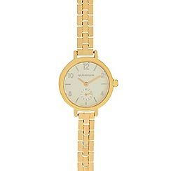 RJR.John Rocha - Ladies gold plated slim bracelet watch