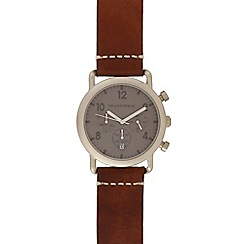 RJR.John Rocha - Brown leather chronograph watch