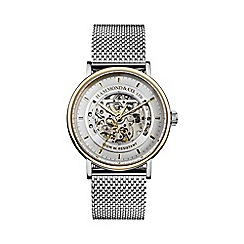 Hammond & Co. by Patrick Grant - Men's silver mesh skeleton watch