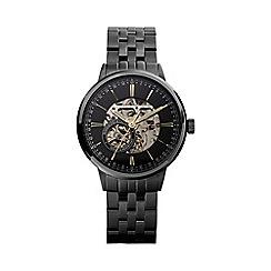 Hammond & Co. by Patrick Grant - Men's black skeleton watch