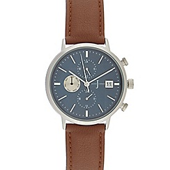 J by Jasper Conran - Men's brown mock multi-dial analogue watch