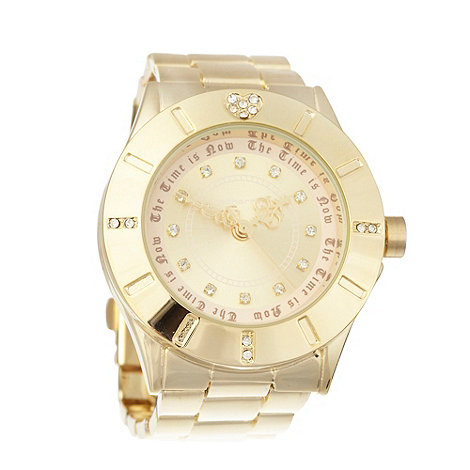 Red Herring - Ladies gold stone heart watch