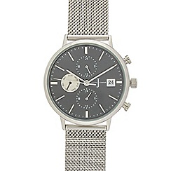 J by Jasper Conran - Men's silver chronograph mesh strap analogue watch