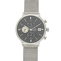J by Jasper Conran - Men's silver chronograph mesh strap analogue watch