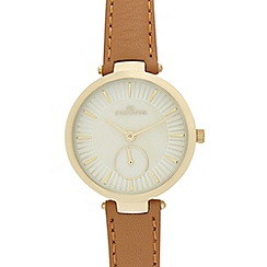 RJR.John Rocha - Ladies tan pearlescent watch