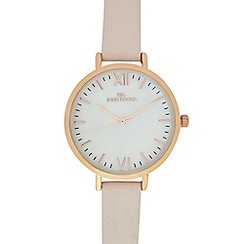 RJR.John Rocha - Ladies pale pink leather watch