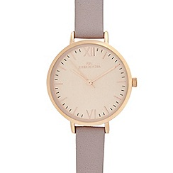 RJR.John Rocha - Ladies mauve leather strap round watch