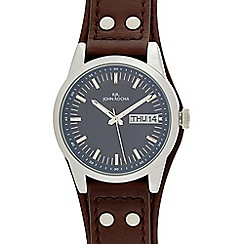 RJR.John Rocha - Dark brown leather date marker watch