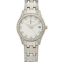 J by Jasper Conran - Ladies' silver diamante watch