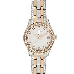 J by Jasper Conran - Ladies' rose gold diamante watch