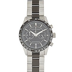 J by Jasper Conran - Silver and black stainless steel chronograph watch