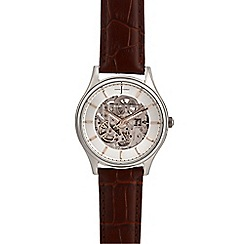 J by Jasper Conran - Men's brown leather analogue watch