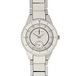 J by Jasper Conran - Ladies white analogue watch