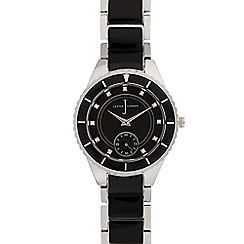 J by Jasper Conran - Ladies black analogue watch