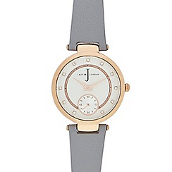 J by Jasper Conran - Ladies' grey leather watch