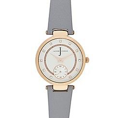 J by Jasper Conran - Ladies' grey leather watch