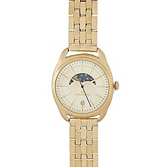 RJR.John Rocha - Ladies gold plated day and night dial analogue watch