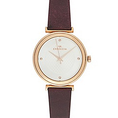 RJR.John Rocha - Ladies gold geometric face analogue watch