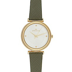 RJR.John Rocha - Ladies' dark green leather watch