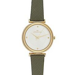 RJR.John Rocha - Ladies' dark green leather watch