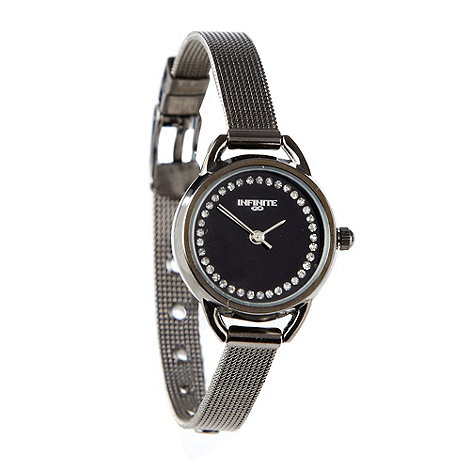 Infinite - Ladies dark grey mesh strap watch