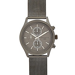 Infinite - Men's dark grey mock multi-dial mesh watch
