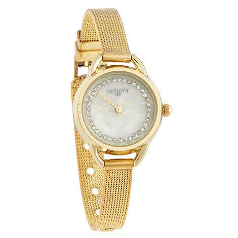 Infinite - Ladies gold bangle watch