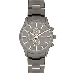 Red Herring - Men's dark grey mock multi-dial watch