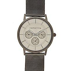 Red Herring - Men's dark grey mock multi-dial watch