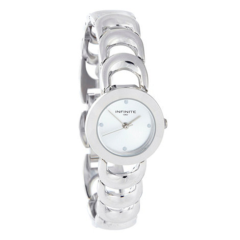 Infinite - Ladies silver horseshoe link bracelet watch