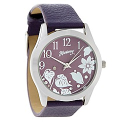 Mantaray - Ladies purple flower dial watch