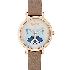 Mantaray - Ladies dark mauve racoon analogue watch