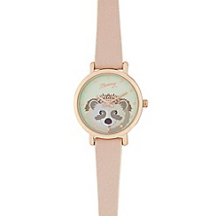 Mantaray - Ladies light pink hedgehog analogue watch