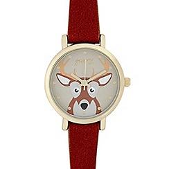 Mantaray - Ladies brown deer dial watch