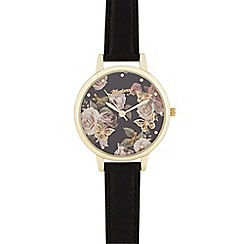 Mantaray - Black butterfly dial watch