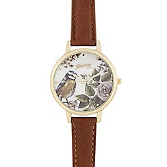 Mantaray - Brown bird dial watch