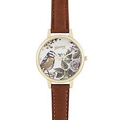 Mantaray - Brown bird dial watch